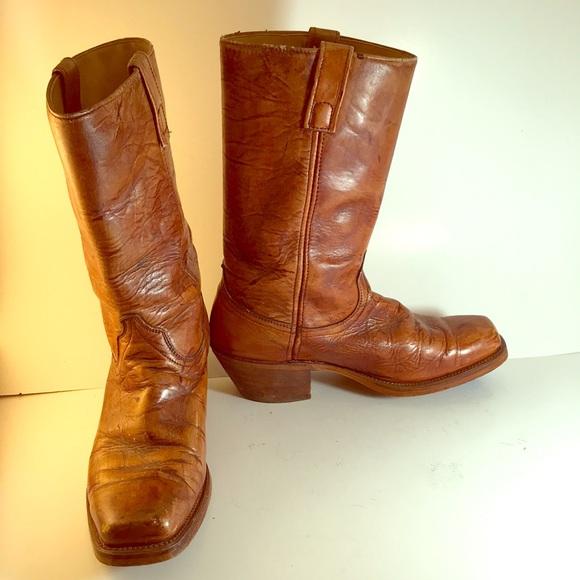 adb6b00ebd4 Vintage Wrangler Men's Brown Cowboy Boots Size 9.5